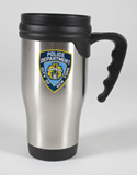 NYPD Stainless Steel Travel Mug